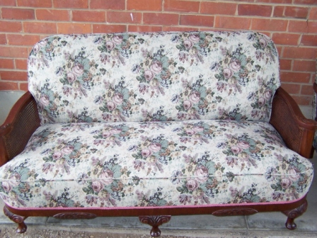 Restored antique couch