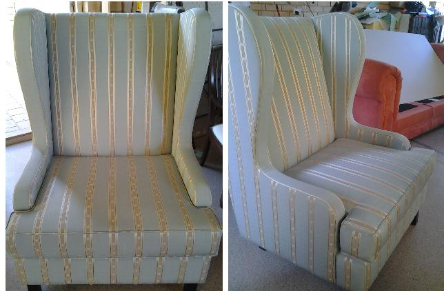 Modern wing back chair