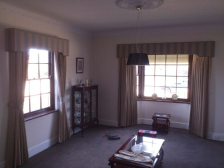 Curtains, Pelmets, Curtain tracks and Rods