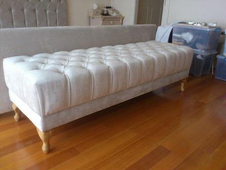 custom made upholstered ottomans
